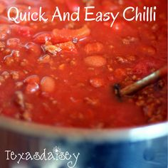 Quick and Easy Chilli