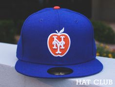 New York Mets Big Apple Fitted Cap @ HAT CLUB