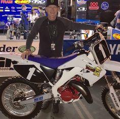 Mugen Honda CR250 Yamaha Motocross, Motocross Riders, Mx Bikes, Off Road Bikes, Vintage Motocross, Dirt Biking, Dirtbikes, Honda Cr, Street Bikes