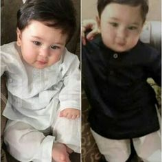 Like father, like son! Taimur Ali Khan Pataudi looks every bit a Nawaab in this miniature Pathani suit - View Pic - Bollywoodlife.com
