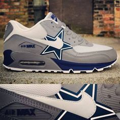 Dallas Cowboys Nike Air Max 90 New Release Custom Senakers