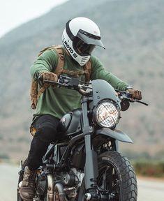 Ducati Scrambler By Gorm - Konzeptfahrzeuge Ducati Scrambler Custom, Cafe Racer Motorcycle, Moto Bike, Motorcycle Style, Motorcycle Gear, Motocross Helmets, Retro Motorcycle, Blitz Motorcycles, Vintage Motorcycles