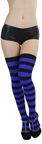 Suimiki Women's Wide Vertical Striped Knee High Stockings Sexy Socks - http://droppedprices.com/stockings/suimiki-womens-wide-vertical-striped-knee-high-stockings-sexy-socks/