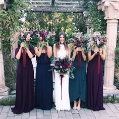 + 20 Jewel Tone Wedding Flowers Bouquets Bridesmaid Dresses 49 Source by joanrculpepper Jewel Tone Bridesmaid, Jewel Tone Wedding, Bridesmaid Hair, Perfect Wedding, Dream Wedding, Wedding Day, Winter Wedding Bridesmaids, Trendy Wedding, Elegant Wedding