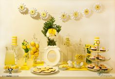 Maybe the main color could be yellow because of lemons? yellow dessert bar