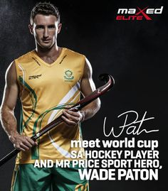 Wade Paton Sports Advertising, Hockey Players, World Cup, High School, World Cup Fixtures, World Championship, Grammar School, High Schools, Secondary School