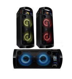 Portable Hi-Fi with LED lights.