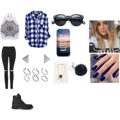Untitled #70 by fashion-momma on Polyvore featuring Topshop, Timberland, ASOS, Areaware, Michael Kors, Lottie, casual and black