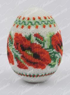 braided egg Maki using loomed pattern