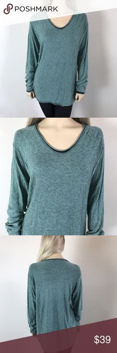 T Alexander Wang Long Sleeve Green Top💚 T Alexander Wang Long Sleeve Green Top💚 Condition: Good  Size: L Length: 27 Bust: 20 The perfect comfy long sleeve tee, worn twice, has no peeling was hung to dry. Does have one flaw sadly has a hole on right sleeve (see photos) if your crafty you can place a patch! Has lots of life left. Pair this with skinny jeans and booties 💚 originally purchased at Nordstrom for $175+ tax. Priced to sell❗️It's very soft. Grab this while you can 😄  In Bin: PS…