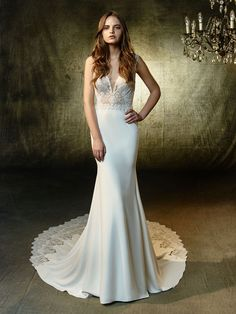 Take a look at our Blue by Enzoani collection for stunning, elegant bridal gowns. Wedding dresses for sale & other services available including bridal accessories to complete your perfect look. Simple Wedding Gowns, Lace Wedding Dress, Wedding Dress Sizes, New Wedding Dresses, Designer Wedding Dresses, Bridal Dresses, Dress Lace, Mermaid Bridesmaid Dresses, Mermaid Dresses