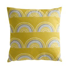 Retro inspired yellow arch cushion. £45