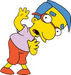 Milhouse Von Houten of The Simpsons fame. All Cartoon Characters, Simpsons Characters, Female Cartoon, Halloween Costumes Glasses, Halloween Costumes For Kids, Homer Jay Simpson, Simpsons Halloween, Kids Glasses, Famous Cartoons