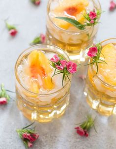 Signature Drinks That Will WOW At Your Cocktail Hour - Bourbon Peach Smash: This beauty of a cocktail proves bourbon is not reserved for gentlemen.