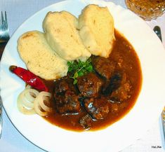 Czech Recipes, New Recipes, Recipies, Ethnic Recipes, Palak Paneer, Stew, Food And Drink, Meat, Chicken