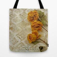 Yellow Roses  Tote Bag by Guna Andersone - $22.00
