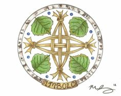 this cross surrounded by the words: bheith ina bhfianaise in áiteanna dorcha (be a light in dark places) imbolc brig ids cross