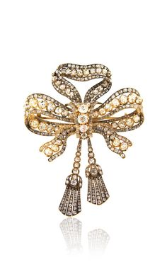 Antique Diamond Bow Brooch by Simon Teakle