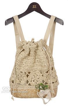 392096583ef crochet bag...this looks sweet. think of how one could make it