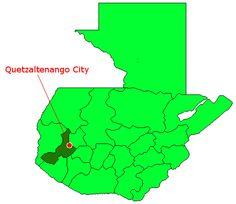 Map of Quetzaltenango - Xela, Guatemala