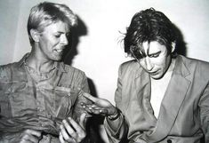 David Bowie and Richard Butler of the Psychedelic Furs. Sydney, 1983