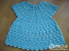 ажурное платье для девочки с круглой кокеткой