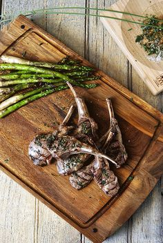 Grilled Lamb Chops with Lavender Salt by girlcarnivore #Lamb_Chops