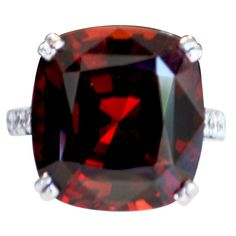 Shop diamond and sapphire fashion rings and other antique and vintage rings from the world's best jewelry dealers. Garnet And Diamond Ring, Garnet And Gold, Garnet Gemstone, Red Garnet, Jewelry Rings, Jewelery, Blood Stone, Red Things, Garnet Jewelry