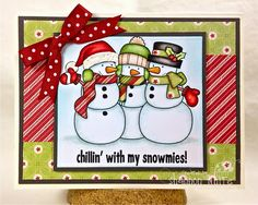 Enchanted Ladybug Creations: Whimsie Doodles December Photo Inspiration Challenge - Chillin' with my Snowmies! 8-)