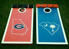 Georgia and South Carolina cornhole boards