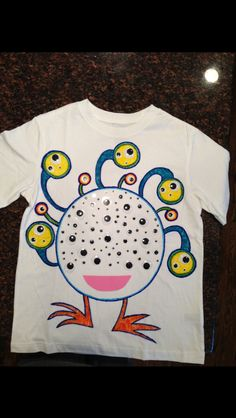 Dominic's 100th day of school t-shirt project
