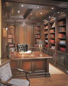 trendy home office study bureaus Home Library Design, Office Interior Design, Office Interiors, House Design, Library Study Room, Study Office, Home Office Space, Home Office Decor, Office Ideas