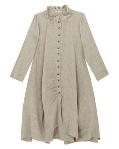 Button Front Linen Coat from Cabbages and Roses.