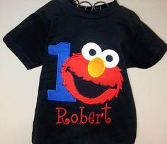 Boy Elmo Birthday Inspired Shirt On Etsy 3450 Via