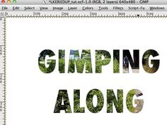 Clipping Mask with Text in Gimp