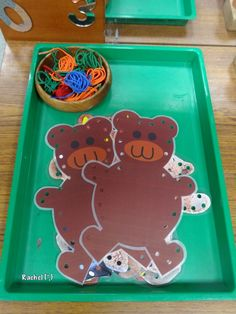 "Bear sewing cards (free printable) from Rachel ("",) Eyfs Activities, Nursery Activities, Creative Activities, Book Activities, Traditional Tales, Traditional Stories, The Very Cranky Bear, Bears Preschool, Finger Gym"