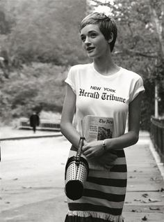 "You love Jean Seberg look…? check our ""Herald Tribune"" T-Shirt, available on E… You love Jean Seberg look…? check our ""Herald Tribune"" T-Shirt, available on Etsy store Jean Seberg, Pixie Hairstyles, Short Hairstyles For Women, Pixie Haircuts, Short Pixie, Short Hair Cuts, Pixie Cuts, Asymmetrical Pixie, Pixie Styles"