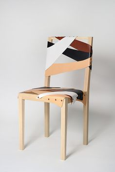 "A chair made of recycled fine leather pieces and ash wood. It was carefully made by a carpenter, then an upholsterer made the art of putting the leather pieces in place. The chair gets a dif- ferent expression depending on the leather waste availvable.  material: ash wood, leather  size: 410x880x390 mm  made by: Källemo  photo credits: Christian Hersborn  for press: download the image by clicking ""all sizes"" above the image, then choos the size you want and click ""download"""