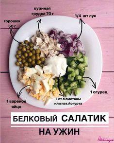 БЕЛКОВЫЙ САЛАТ ДЛЯ ОБЕДА😍 Не забудьте ...  #БЕЛКОВЫЙ #Для #забудьте #не #Обеда #салат Food To Go, Good Food, Food And Drink, Diet Recipes, Cooking Recipes, Healthy Recipes, Gourmet Salad, Easy Eat, Proper Nutrition