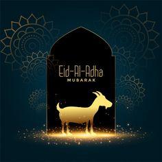 Nice eid al adha mubarak bakrid festival... | Free Vector #Freepik #freevector #background #gold #card #islamic Best Eid Mubarak Wishes, Eid Al Adha Wishes, Eid Al Adha Greetings, Happy Eid Al Adha, Happy Eid Mubarak, Eid Ul Adha Images, Eid Images, Eid Mubarak Images, Happy Islamic New Year