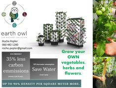 Welcome to the Future of Farming – Earth Owl – Olka Bolka Market Welcome To The Future, Water Flowers, Save Water, Natural Solutions, Our Planet, Farming, Eco Friendly, Owl, Herbs