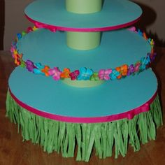 luau cupcake  | Luau theme Cupcake stand by lapetitebebeboutique on Etsy