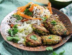 Courgette & Cashew Bhajis with Coconut Slaw Recipe | Abel & Cole