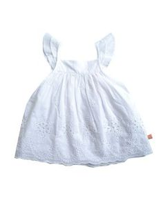 Billieblush baby girls white broderie anglaise cotton top