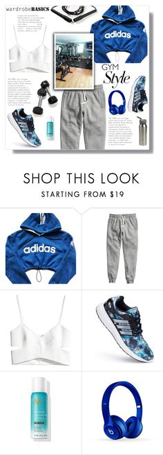 """""""Work It Out: Gym Essentials"""" by nadia-gadelmawla ❤ liked on Polyvore featuring adidas, H&M, Beats by Dr. Dre, simple, croptop, sweatpants and gymessentials"""