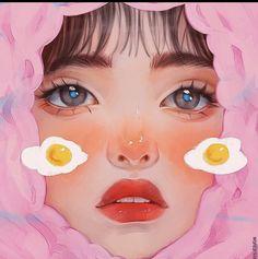 Digital Art Anime, Digital Art Girl, Cartoon Girl Drawing, Girl Cartoon, Pretty Art, Cute Art, Illustration Art, Illustrations, Arte Sketchbook