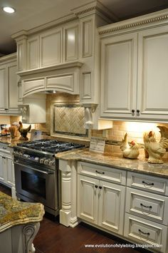 Evolution of Style blog - mini home tour Stove, cabinets...love