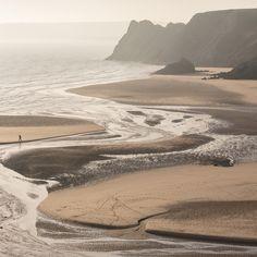 Threecliff Bay, Gower, Glamorgan.Wales