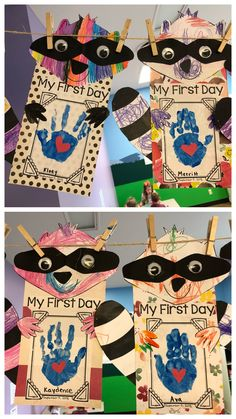 The Kissing Hand, preschool art, Chester the raccoon coloring sheet, first day o. Kindergarten First Week, Preschool First Day, September Preschool, All About Me Preschool, First Day Of School Activities, Fall Preschool, Preschool Activities, Starting Kindergarten, Kissing Hand Preschool