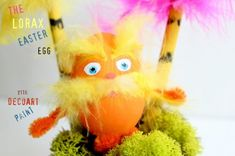 Lorax Easter Eggs - Fun Family Crafts